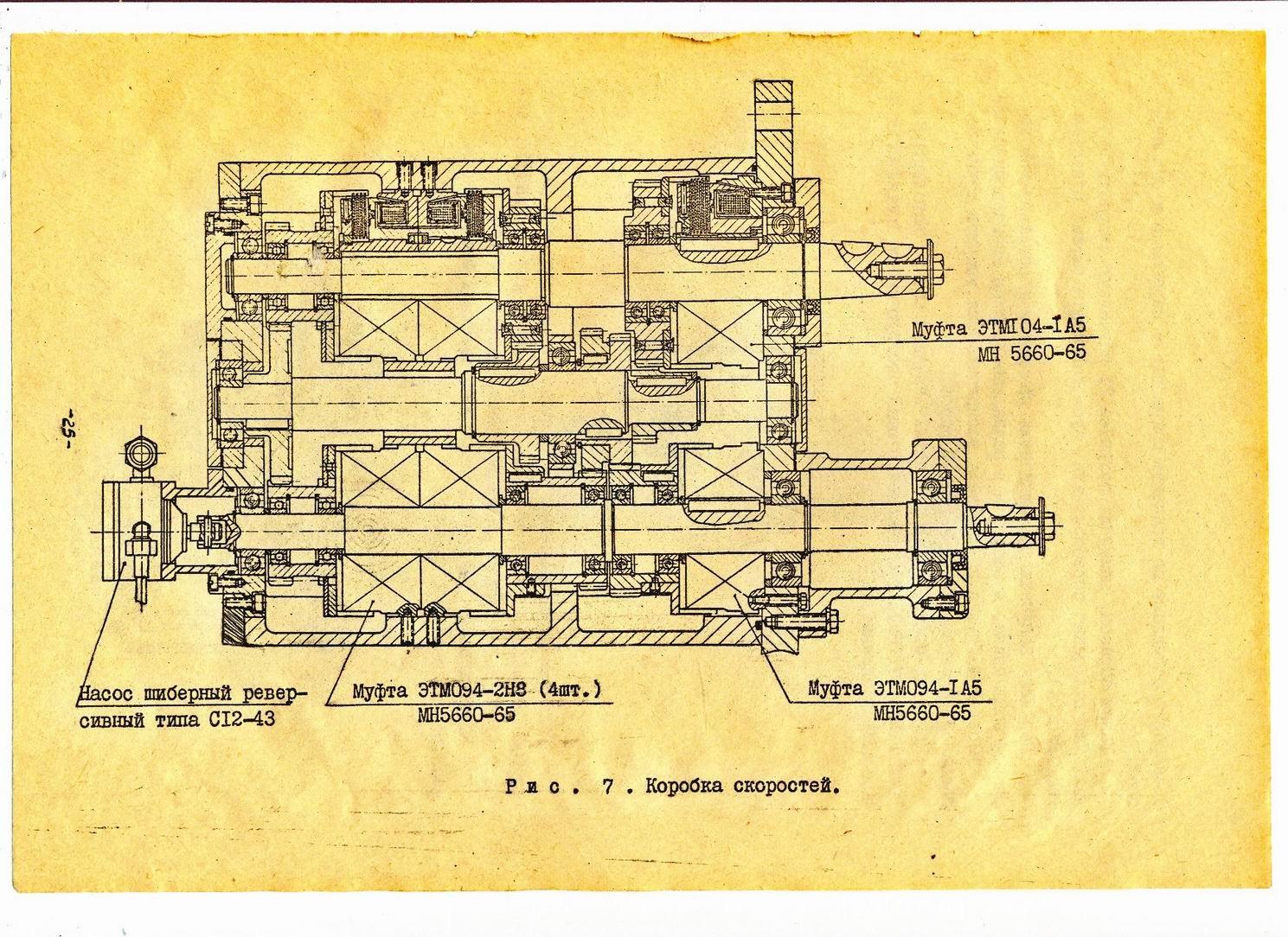схема коробки скоростей токарно-винтового станка