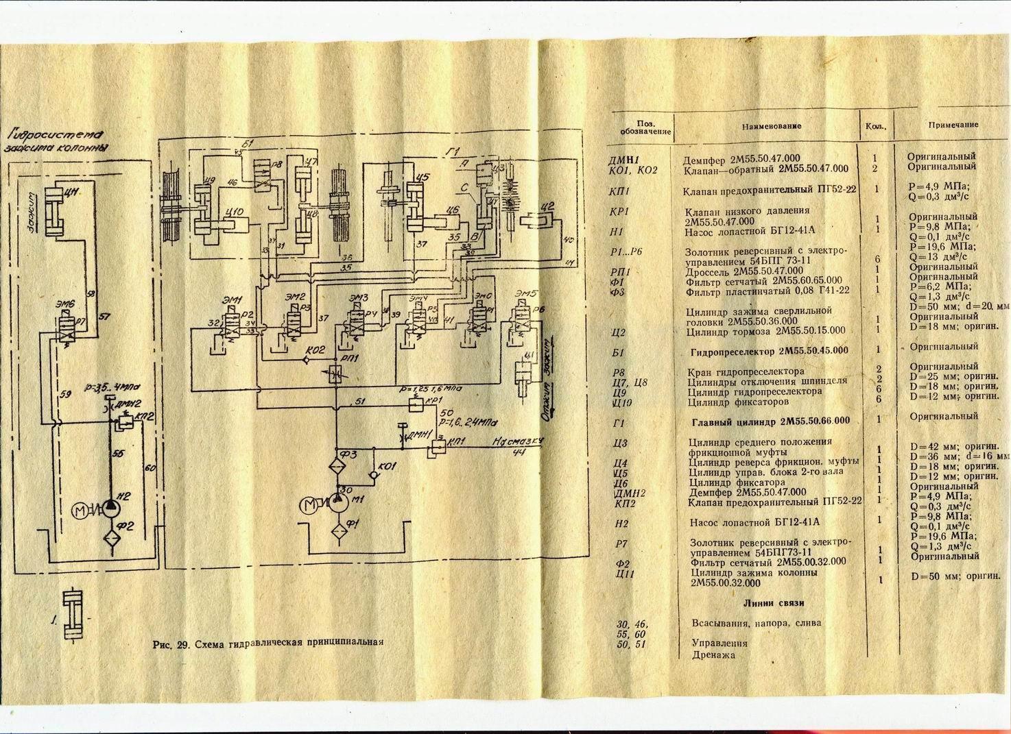 Электрическая схема станка субд