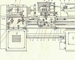 Схема расположения органов управления 1М61 токарно-винторезного станка.  Последнее.